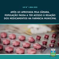 Após lei aprovada pela Câmara, população tem acesso ao estoque de medicamentos na farmácia municipal