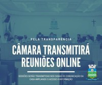 Câmara irá transmitir as reuniões online