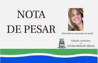 Nota de pesar - Sílvia Aparecida da Silveira, secretária de saúde