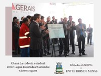 Obras na rodovia estadual entre Lagoa Dourada e Carandaí são entregues