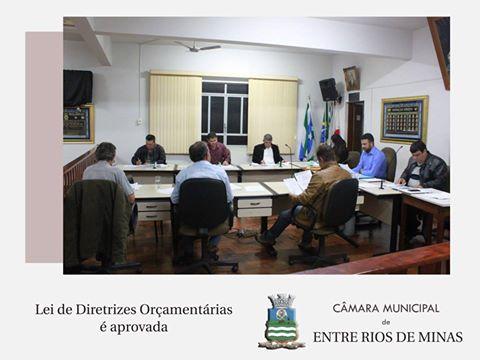 Vereadores aprovam Lei de Diretrizes Orçamentárias do Município de Entre Rios de Minas