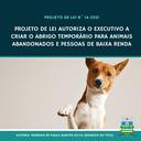 Projeto que autoriza criação de abrigo temporário para animais é aprovado